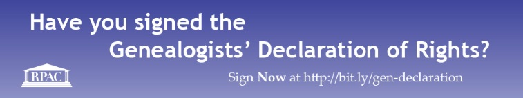 Genealogists Declaration of Rights